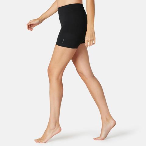 Short Sport Pilates Gimnasia Suave Mujer Fit+500 Slim Negro