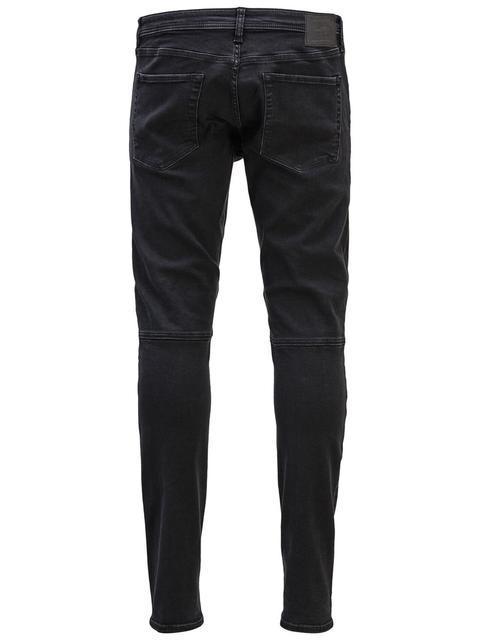 Blau JACK /& JONES Herren Jeans-Hose GLENN Schwarz Slim Skinny Fit