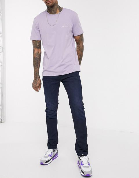 Diesel Thommer-x Stretch Slim Fit Jeans In Dark Wash-blue