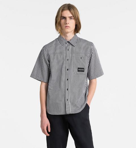 reputable site 6725e 6e264 Camicia A Quadretti Maniche Corte Oversize from Calvin Klein on 21 Buttons