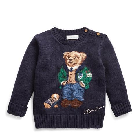 Jersey De Lana Y Algodón Con Polo Bear de Ralph Lauren en 21 Buttons