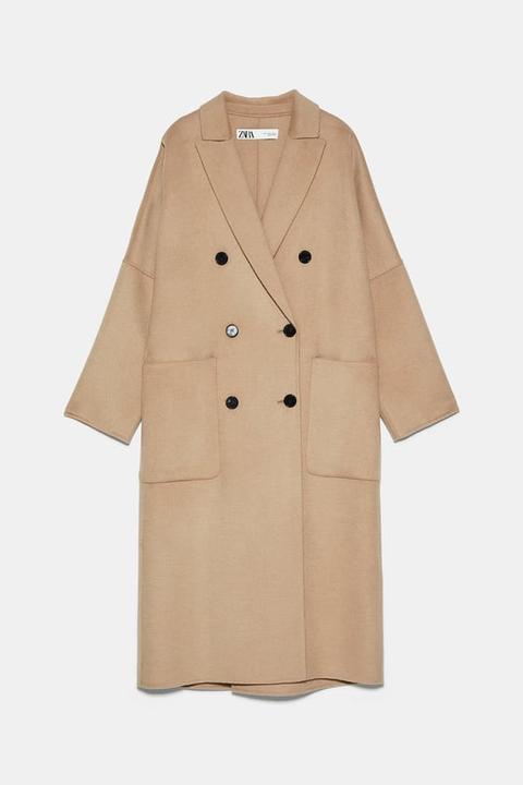 Abrigo Oversize de Zara en 21 Buttons