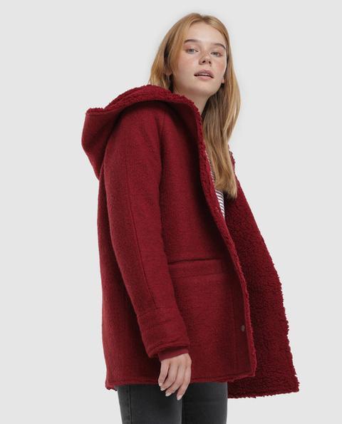 Green Coast - Abrigo De Mujer Con Capucha Interior Borrego de Green Coast en 21 Buttons