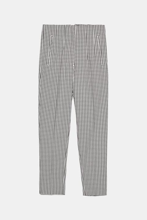 Pantalón Tiro Alto Cuadros