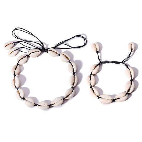 Conjunto Collar Con Diseño De Concha Con Pulsera