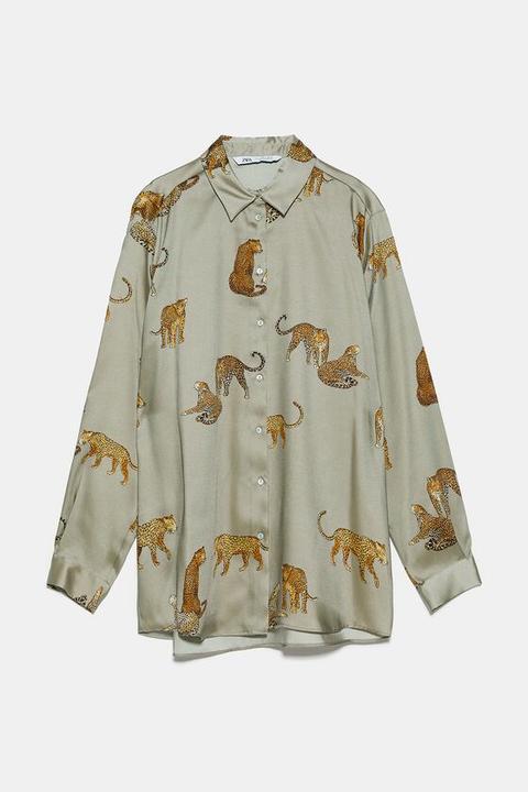 Camisa Fluida Estampada