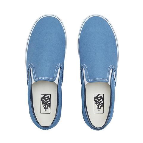 vans classic slip on blu