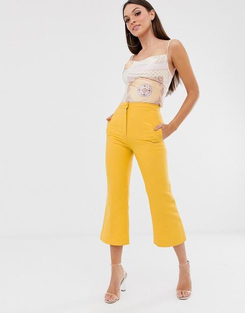 Pantalones De Campana Fight Club De Vestire-amarillo de ASOS en 21 Buttons