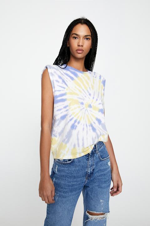 Camiseta Tie-dye Hombreras