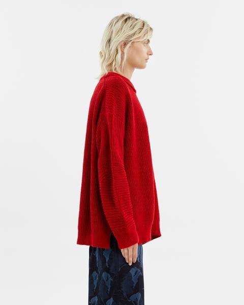 Jersey Oversize Lana Rojo