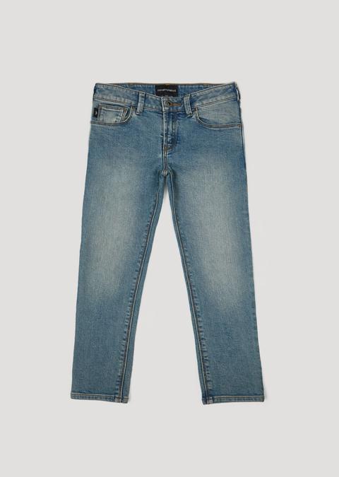 Jeans In Denim Di Cotone Stretch de ARMANI en 21 Buttons