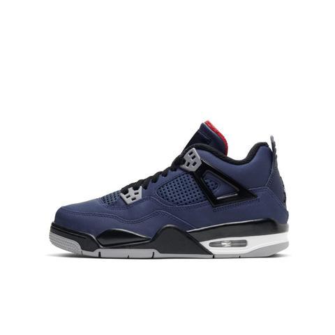Chaussure Air Jordan 4 Retro Wntr Pour Enfant Plus Âgé - Bleu from ...