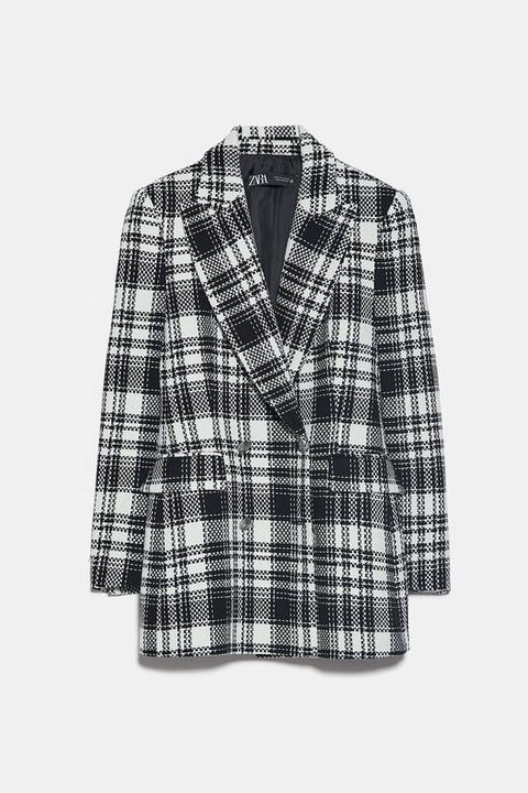 Blazer Entallada Cuadros de Zara en 21 Buttons