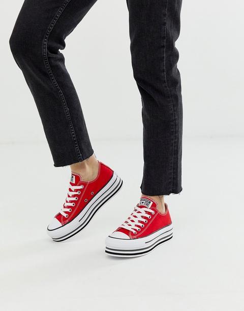 Zapatillas Rojas Con Plataforma Chuck Taylor All Star De Converse de ASOS en 21 Buttons