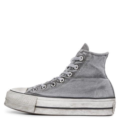 Converse Chuck Taylor All Star Lift Smoked Canvas High Top Grey