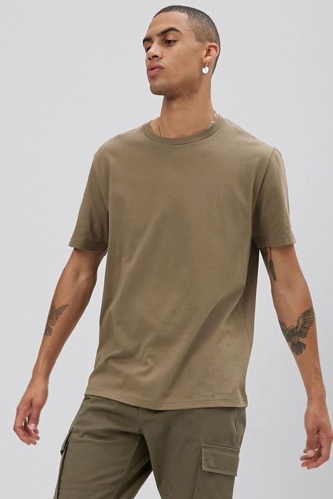 Camiseta Básica Cuello Caja de Forever 21 en 21 Buttons