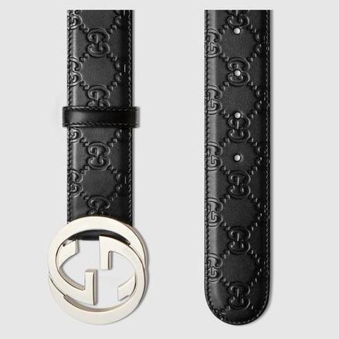 Cinturón De Piel Gucci Signature