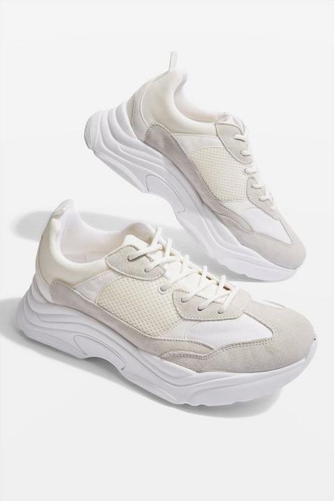 Womens Ciara Chunky Trainers - White, White