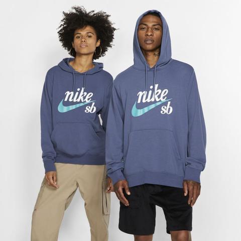 Felpa Da Skateboard Con Cappuccio Nike Sb Icon - Blu