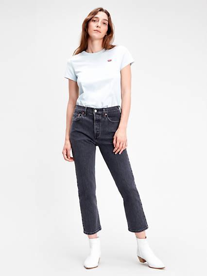 501® Crop Jeans Negro / Cabo Fade de Levi's en 21 Buttons