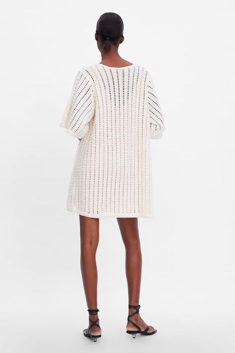 Openwork Knit Dress