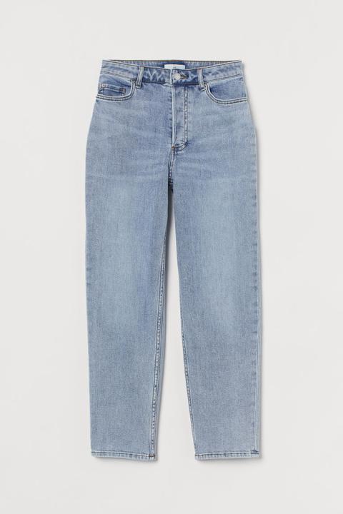 Slim Mom Ankle Jeans - Azul