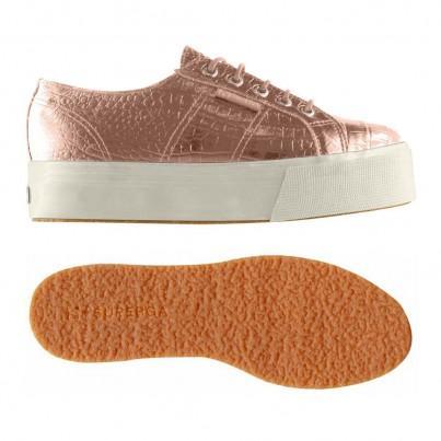 2790-fglwembcocco, 15110, Lady Shoes S0094q0 N37 Rose Gold de Superga en 21 Buttons