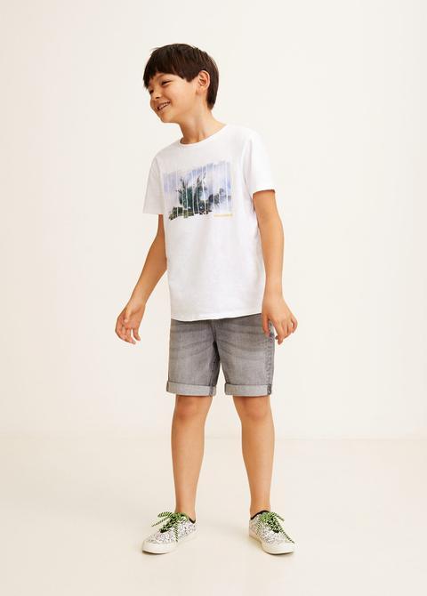 Estampado from Buttons Palmeras on Camiseta Mango 21 wONnm8yv0