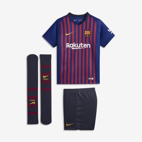 2018/19 Fc Barcelona Stadium Home Equipación De Fútbol - Niño/a Pequeño/a - Azul