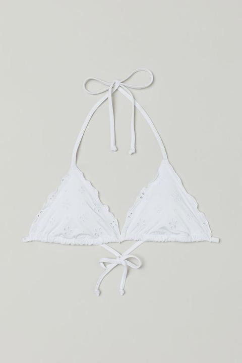 Top De Bikini Con Relleno - Blanco