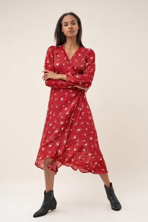 Vestido Largo Con Estampado De Flores de Salsa en 21 Buttons