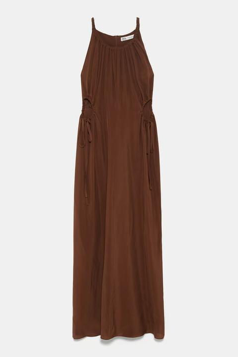 Vestido Aberturas Laterales Edición Limitada de Zara en 21 Buttons