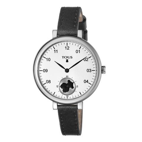 Reloj Spin De Acero Con Correa De Piel Negra de Tous en 21 Buttons