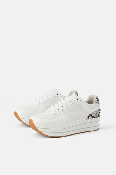 Animal Print Platform Sneakers from