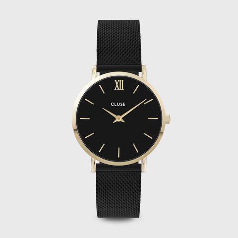Minuit Mesh Black, Gold Colour