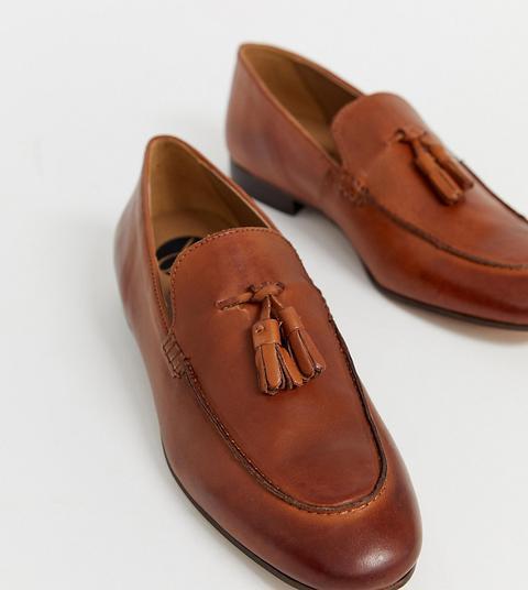 H By Hudson - Bolton - Loafer Aus Braunem Leder Mit Quastendesign from ASOS on 21 Buttons