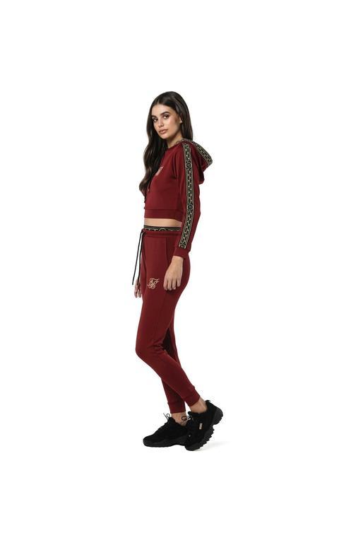 Siksilk Siksilk Athena Cropped Hoodie Bordeaux Tallas De Mujer: 6