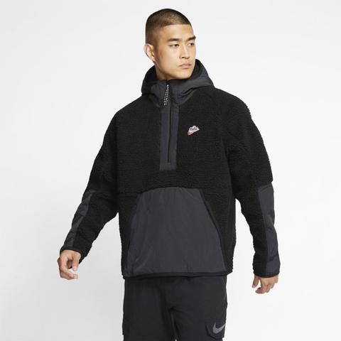 nike veste zippée à capuche tech windrunner sherpa homme