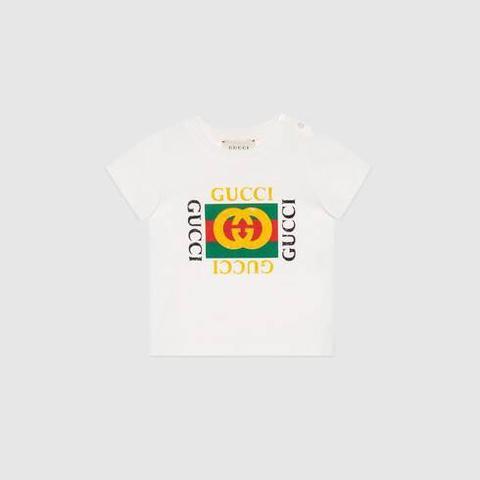 Camiseta De Bebé Con Logo Gucci de Gucci en 21 Buttons