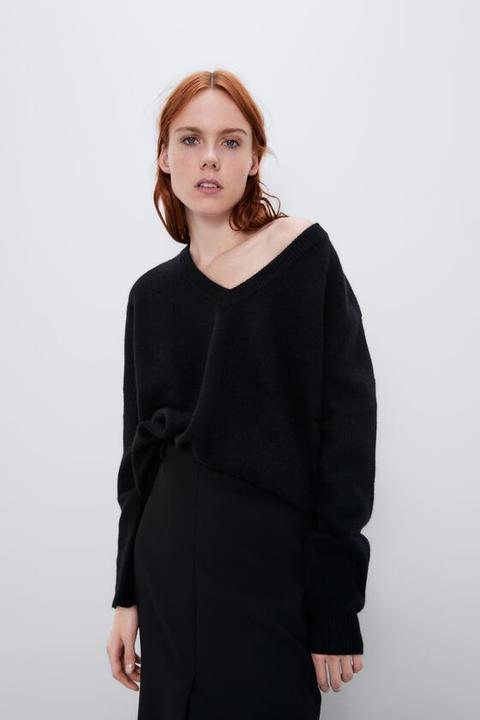 Jersey Oversize Cashmere Cuello Pico