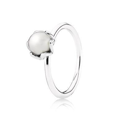 anello pandora fiore e perla