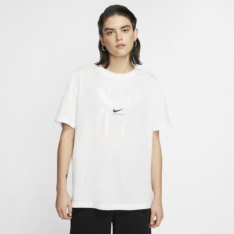 tee shirt nike femme blanc