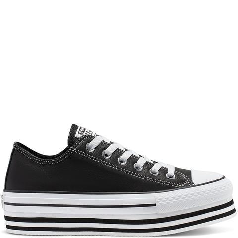 Converse Chuck Taylor All Star Platform Low Top Black, White de Converse en 21 Buttons