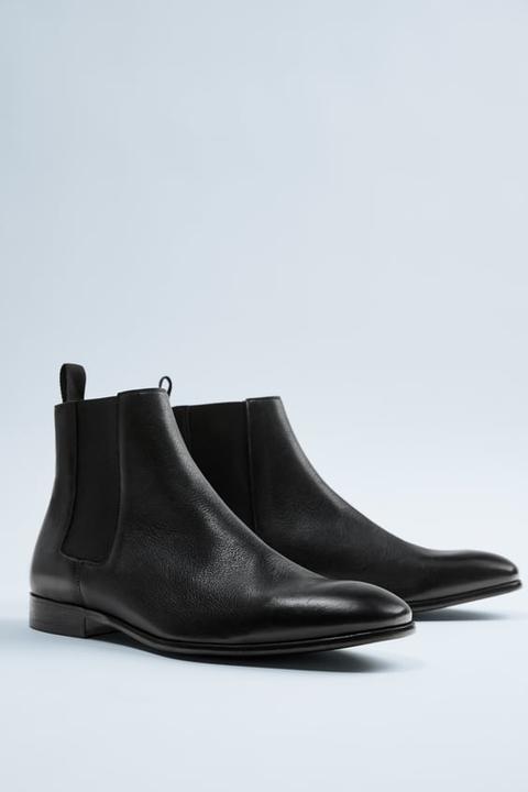 Botín Soft Piel Negro de Zara en 21 Buttons