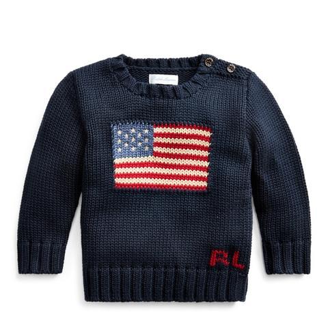Jersey De Algodón Con Bandera de Ralph Lauren en 21 Buttons