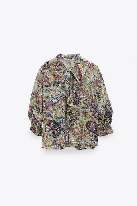 Blusa Estampado Paisley Lazo