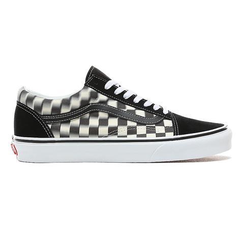 Vans Blur Check Old Skool Shoes ((blur
