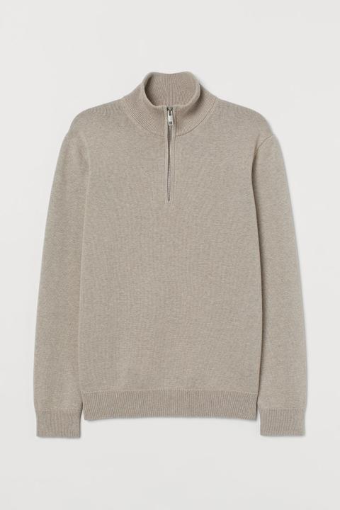Jersey De Punto Con Cremallera - Marrón de H&M en 21 Buttons