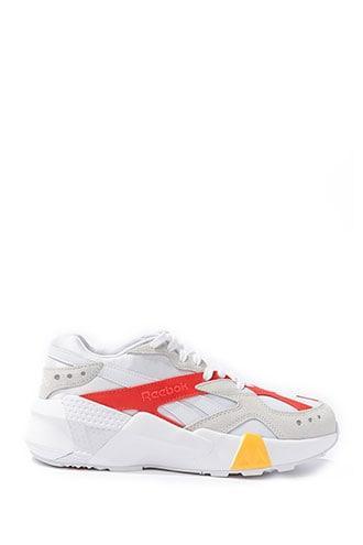 Forever 21 Unisex Reebok X Gigi Hadid Classic Aztrek Sneakers , White/multi from Forever 21 on 21 Buttons