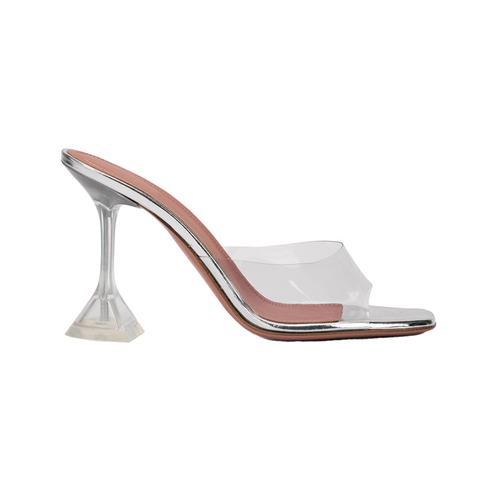 Cahio Transparent High Heel Pvc Mules Naked Sandals - 9cm